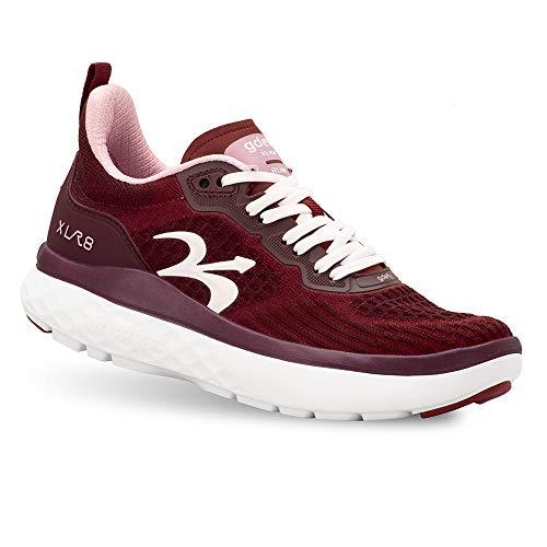 Gravity Defyer Women's G-Defy XLR8 Running Shoes 9.5 M US - VersoCloud Multi-Density Shock Absorbing Performance Long Distance Running Shoes Burgundy, Pink