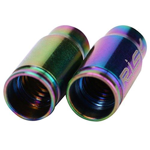 2 Pcs Presta Ventilkappen Fahrrad Titanlegierung Reifenstammluftventilkappen Staubabdeckung ( Farbe : Mehrfarbig ) - 2