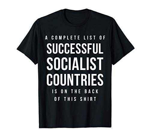 complete list of successful socialist countries on the back T-Shirt