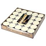 SOIMISS 50pcs candele di nozze rotonde paraffina luce del tè proposta romantica candela (bianca)