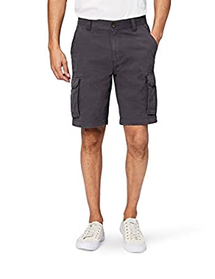 Amazon Essentials Men's Classic-Fit Cargo Short, Grey, 34 by Amazon Essentials