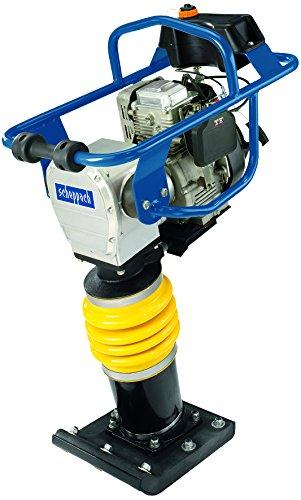 Scheppach Vibrationsstampfer VS1000 (6,5 PS, 1000 N Verdichtungsdruck, max. 60mm Verdichtungstiefe, Schlagzahl 450-650 mm-1, Arbeitsbreite 345 x 285mm)