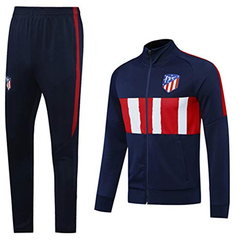 Camiseta de fútbol Atlětico MMMMMMMMMMMMÁDRid 2021 Chándal de fútbol de entrenamiento de ropa deportiva profesional de uniforme y pantalones de cuello alto, manga larga, viajes de ocio M