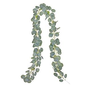 YQing Artificial Eucalipto Guirnalda Planta, 183cm Eucalyptus Guirnaldas Seda Hojas Decorative Vines Artificiales…