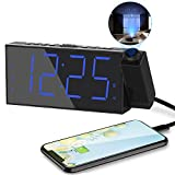 Projection Digital Alarm Clock for Bedrooms,Loud...