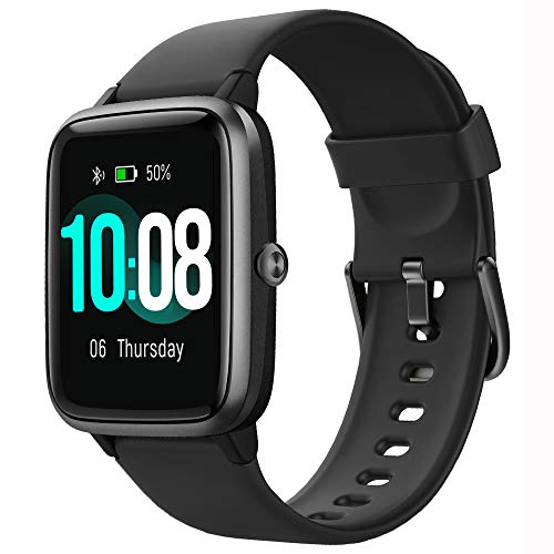 GRDE Smartwatch Herren Fitnessuhr 1.3 Zoll Voll Touchscreen Fitness Tracker IP68 Wasserdicht Smart Watch mit Pulsuhren Schrittzähler Schlafmonitor Stoppuhr Musiksteuerung Sportuhr für iOS Android