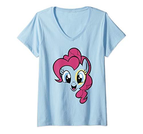 Mujer My Little Pony: Friendship Is Magic Pinkie Pie Big Face Camiseta Cuello V