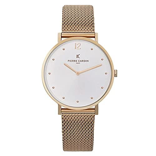 Pierre Cardin Belleville Simplicity CBV.1013 - Reloj de pulsera unisex de cuarzo, acero inoxidable con correa de acero inoxidable