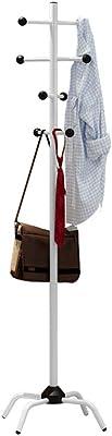 ポールハンガー つっぱり式 コートハンガー ハンガーラック アイアン 防錆 耐久 北欧 組立簡単 衣類掛け 帽子掛け 玄関収納 高さ177cm