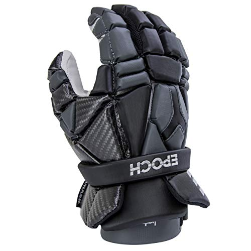 Epoch Lacrosse Integra Glove with Phase Change Technology for Attack, Middie and Defensemen Black Extra Large