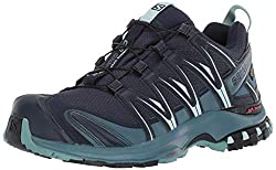 Salomon Damen XA Pro 3D GTX, Trailrunning-Schuhe, Wasserdicht, Blau (Navy Blazer/Mallard Blue/Trellis), Größe 40 2/3