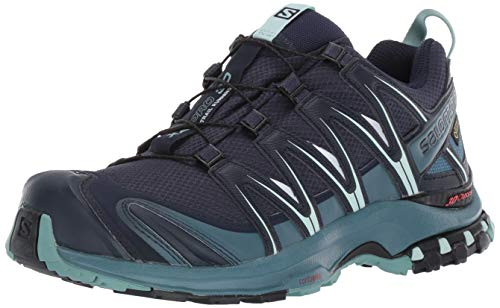 Salomon Women's XA Pro 3D GORE-TEX Trail Running Shoes, Navy Blazer/Mallard Blue/Trellis, 7 US