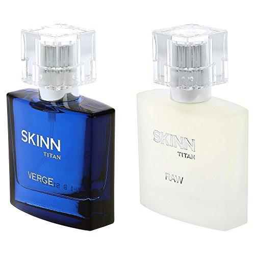 Titan Skinn Verge and Raw Fragrances for Men, 50ml (Pack of 2)
