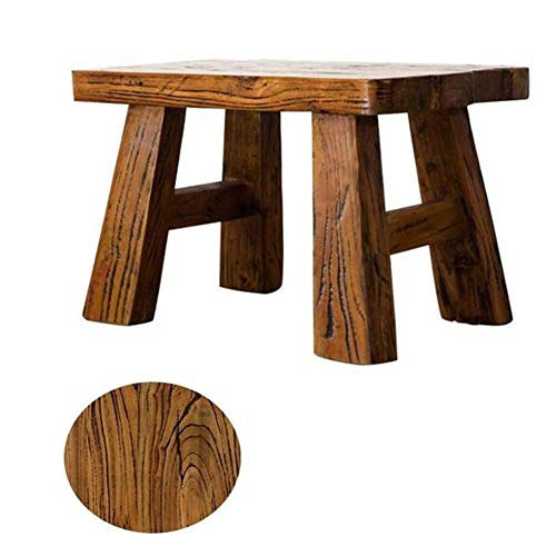 FFC massief hout poef en voetsteun Handgemaakte veranderende krukken Kruk bank salontafel Badkamer kruk Licht draagbare hoek eenheid voor slaapkamer (Kleur: bruin Afmetingen: 44x27x26cm)