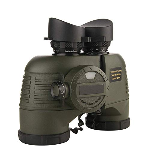 Lowest Prices! CHUNSHENN Monocular Binoculars Telescope 7x50 Binoculars Built-in Compass Ranging, Bl...