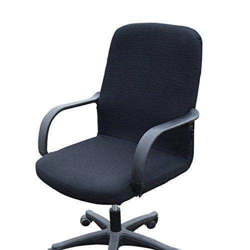 Funda MiLong para silla de oficina. Funda el�stica y extra�ble, elastano, negro, Small ⭐