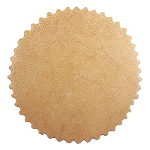 Springfield Leather Company 25 Pack of 2' Crinkle Cut Rounders