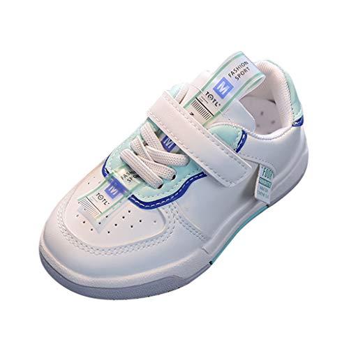 YWLINK NiñOs Y NiñA Zapatos Casual Deportes Zapatillas Ligeros Transpirable CóModo Corriendo Zapatos De Escalada Al Aire Libre Zapatillas De Malla para Correr Zapatillas De Suela Blanda con Velcro
