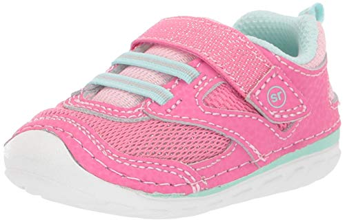 Stride Rite baby girls Soft Motion Adrian Athletic Sneaker, Light Pink, 3 Infant US