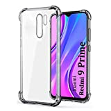 BrothersThought TPU Bumper Mobile Cover for Redmi 9 Prime/Poco M2 | Shock Proof Flexible Back Case Cover for Mi Redmi 9 Prime/Poco M2 - Transparent
