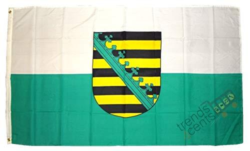 Landesflagge Sachsen Fahne Flagge 150x90 Wetterfest