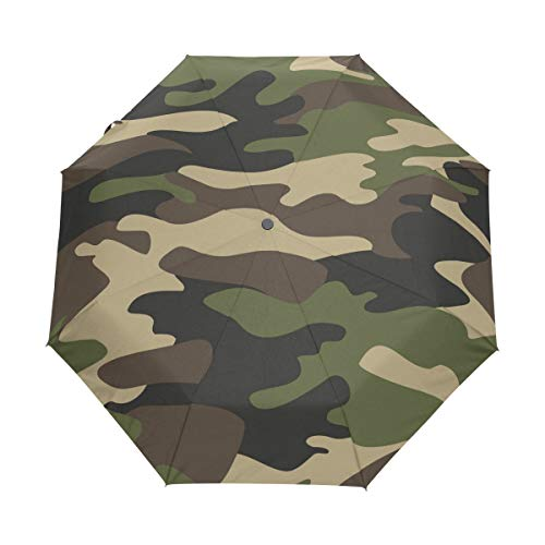 Reise-Regenschirm, Camouflage-Muster, Hintergrund automatisch zu öffnen, kompakt, faltbar, Sonnenschutz, Regenschutz, winddicht für Kinder, Damen, Herren