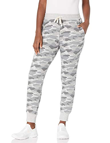 Amazon Essentials Women's Relaxed Fit Fleece Jogger Sweatpant, Grey Camo, X-Large