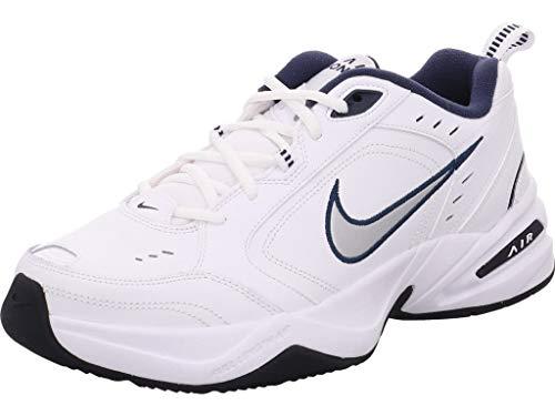 Nike Air Monarch Iv - Scarpe da fitness da uomo, 9,5 UK, (Bianco/grigio ), 45 EU