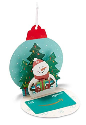 Amazon.co.uk Gift Card - In a Gift Tag - £50 (Christmas Pop-Up Ornament)