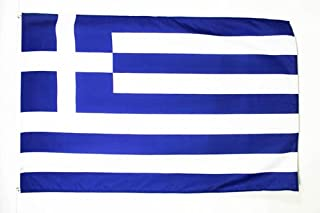 Greece Flag 2' x 3' - Greek Flags 90 x 60 cm - Banner 2x3 ft Light Polyester - AZ FLAG