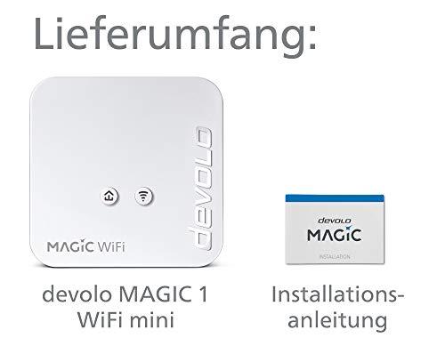 devolo Magic 1 – 1200 WiFi mini Single Adapter: Kleinster Powerline-WiFi-Adapter der Welt, sichere Erweiterung für Ihr Heimnetzwerk (1200 Mbit/s, 1x Fast-Ethernet LAN-Anschluss, Mesh-WLAN, G.hn)