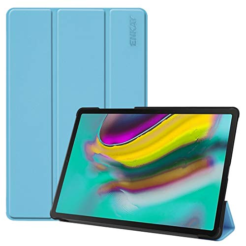 YUCPING Heights Quality PU Leather + Plastic Bottom Smart Case With Threefold Holder For Samsung Galaxy Tab S5e 10.5 T720 / T725 Cell phone case (Color : Light blue)
