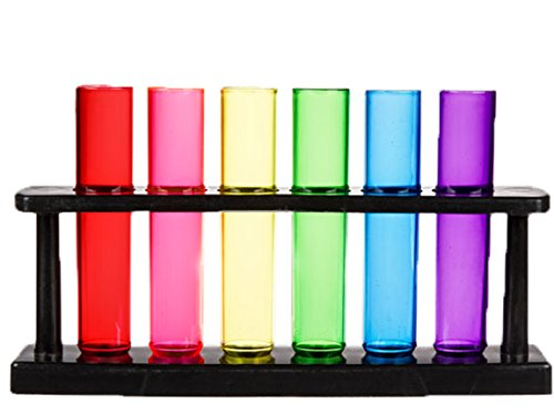 Bada Bing Juego de 6 vasos de chupito de plástico + soporte 72