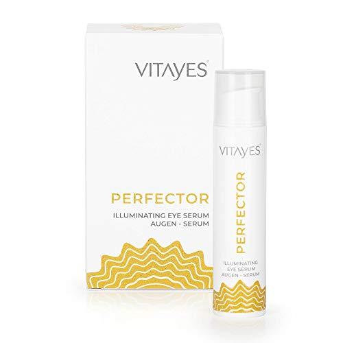 Vitayes, Perfector, Augen Gel/Serum, Augencreme mit Anti-Aging Soforteffekt für leichte Falten. Einzigartiger Instant Brightening Effekt gegen Augenringe. Inhalt reicht über 3 Monate.