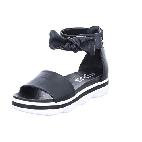 Mjus Damen Sandale 877006 Schwarz (Nero) Größe 37 EU