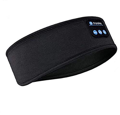 Bluetooth Haarband Schlafkopfhörer Bluetooth-Stirnband Upgrage Soft Sleeping Drahtlose Musik Sleeping Headsets Perfekt Für Workout Running Yoga-Black Tj