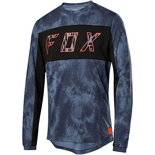 Fox Ranger Dr Ls Elevated Jersey Blue Steel M
