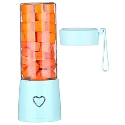 Exprimidor eléctrico de 450 ml, Extractor de Frutas y Verduras Enteras, máquina de Jugo portátil, Material de Acero Inoxidable y fácil de Limpiar, Rosa