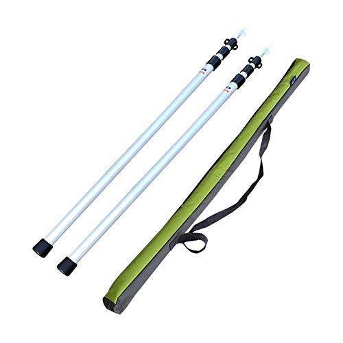 Tent Pole, Telescoping Tarp Poles Adjustable Aluminum Rods 2Pcs, Strong, Lightweight and Rust-Resistant, Suitable for Backpacking, Hiking, Camping, Hammock, Shelter Or Awning