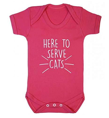 Flox Creative Baby Weste Here to Serve Cats Gr. 6-12 Monate, dunkelrosa