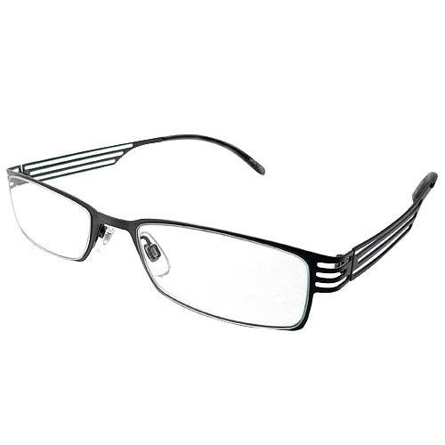 デューク 老眼鏡 メンズ +1.0 度数 ジェントルコレクション メタルフレーム ソフトケース付き グレー DR-39+1.00
