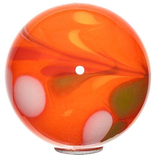 Cristalica Gartenkugel Kugel klein Rosenkugel Glas Mundgeblasen Orange 15 cm mit Stab