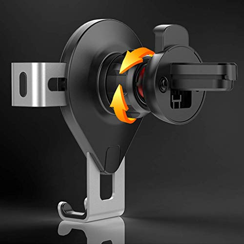Soporte de teléfono de coche de navegación de gravedad de metal universal Soporte de teléfono móvil de ventilación de aire Soporte de soporte de sensor automático