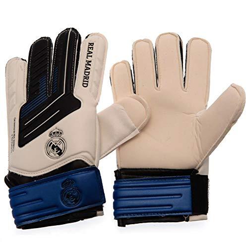Real Madrid CF - Guantes de portero junior (Talla Única) (Blanco/Azul)