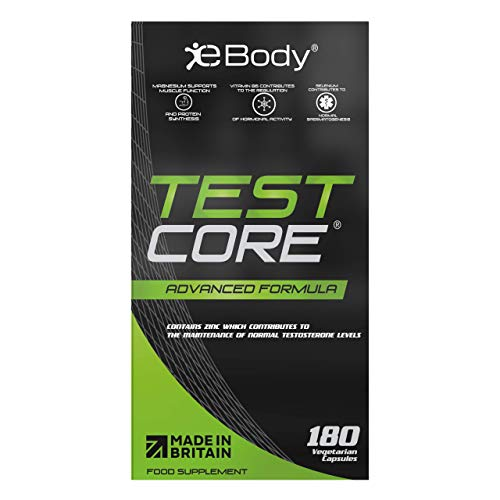 Testcore Supplement for Men Contains Zinc which Contributes to The Maintenance of Normal Testosterone Levels, Vitamin Booster & Botanical Extracts (180 Vegetarian Capsules)