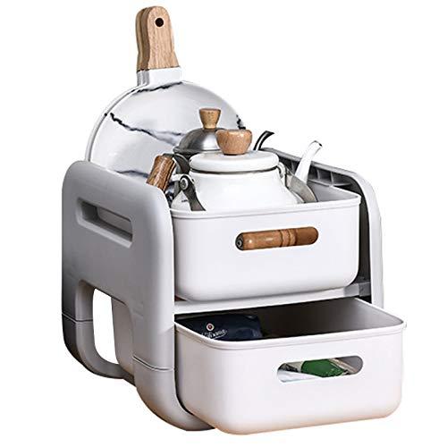 Especiero Organizador 2 Niveles Spice Rack Desmontables Estante Especias Multifunción Extensible Lavabo Cocina Para Almacenamiento Baño Dormitorio Cocina Superficie,A