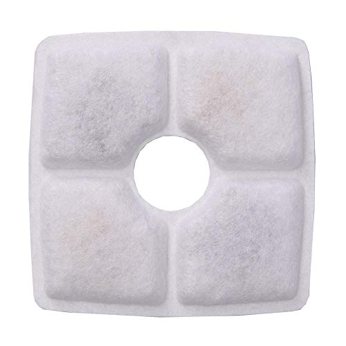 straw Pet Water Dispenser Replacement Accessories 4PCS Pet Fountain Filter Small Flower Square
