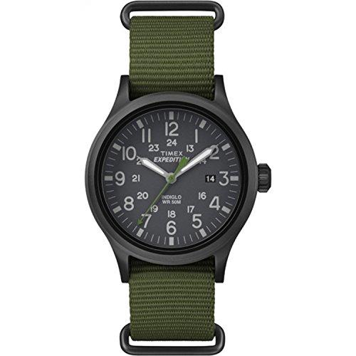 Timex Men's TW4B04700 Expedition Scout 40 Green Nylon Slip-Thru Strap Watch