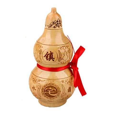 xiulin Feng Shui Chinese Peach Gourd Chinese Wu Lou Good Luck Wooden gourds Ornaments Decoration Home Crafts Treasure and Ornaments (pinganjiazhai)
