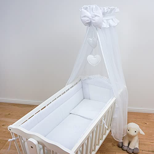 10 Piece Baby Crib Bedding Set 90x40cm Fits Swinging Cradle - Broderie...